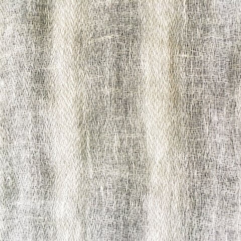 Anichini Yutes Collection Lahti Herringbone Stripe Sheer Linen Fabric