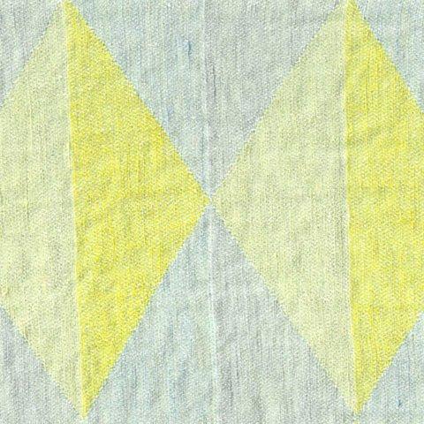 Anichini Yutes Collection Harlequin Diamond Jacquard Fabric In 04 Yellow Grey