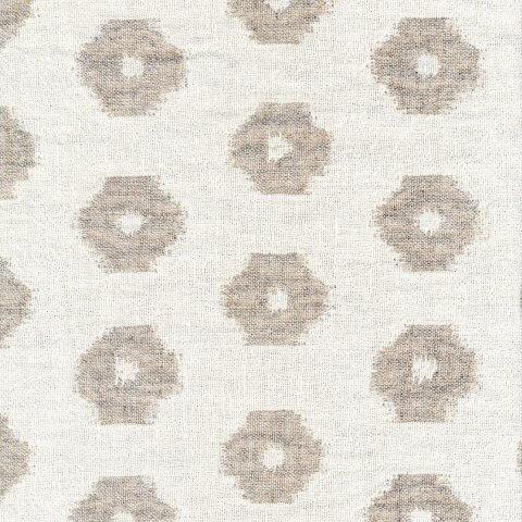 Anichini Yutes Collection Tokkat Small Circles Linen Matelassé Fabric
