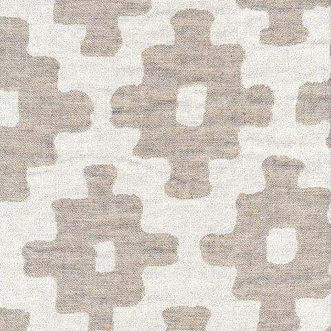 Anichini Yutes Collection Tokkat Cross Design Linen Matelassé Fabric