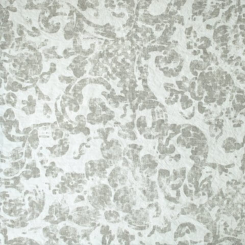Anichini Yutes Collection June Floral Printed Linen Fabric In 03 Orange