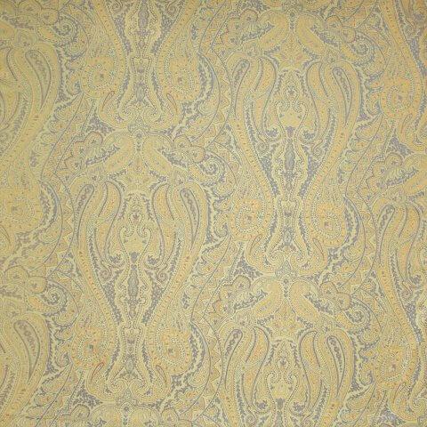 Anichini Kashmir Paisley Italian Jacquard Fabric In Jade Green