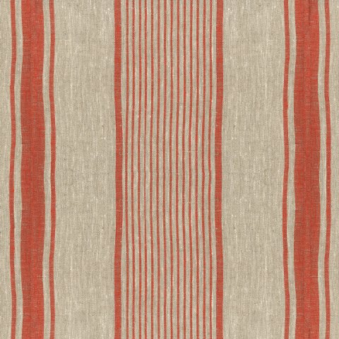 Anichini Mykolas Striped Linen Fabric By The Yard