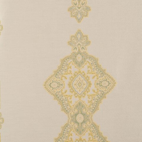 Anichini Persia Jacquard Medallion Fabric By The Yard In Green
