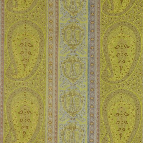 Anichini Taj Paisley Jacquard Fabric By The Yard In Green