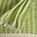 Anichini Hospitality Aqua Washable Cotton Blend Throws