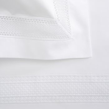 Anichini Martina Percale Sheeting with Lace Embellishment