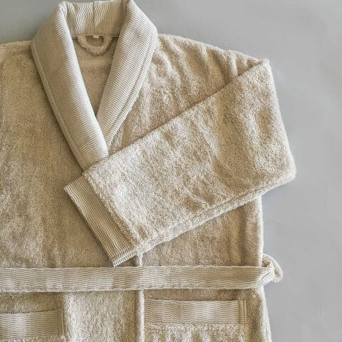 Anichini Hospitality Organic Spa Shawl Collar Robe