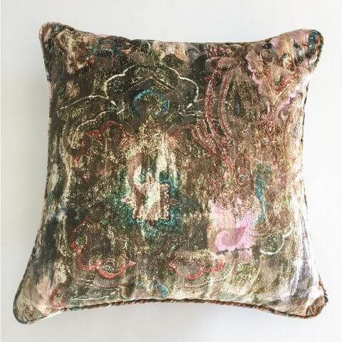Anichini Lagoon Printed Fortunyesque Velvet Pillows