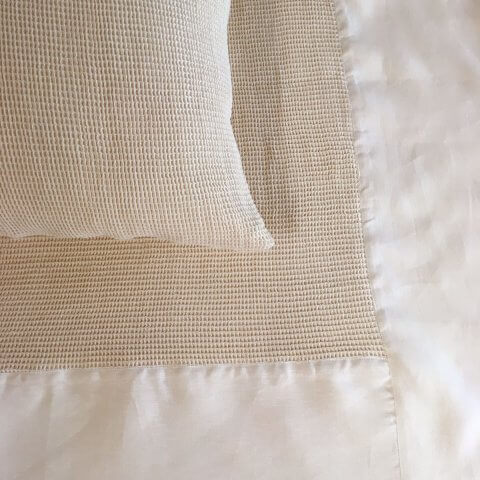 Anichini Linen Waffle Weave Coverlets & Shams