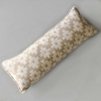 Anichini Tokkat Cross Design Linen Pillows