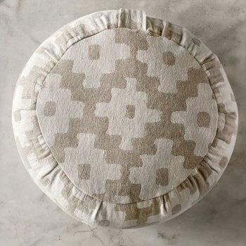 Anichini Tokkat Cross Design Linen Meditation Pillows