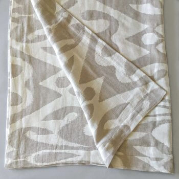 Anichini Tokkat Super Large Ikat Linen Throws & Bed Runners