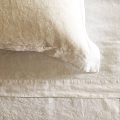 Anichini Vita Washed Linen Modern Rustic Sheeting