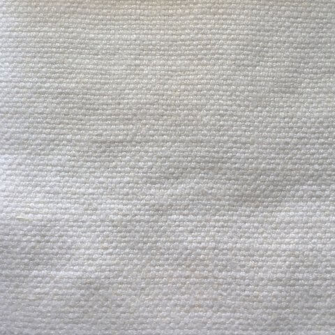 Anichini Yutes Collection Barroco Solid Basket Weave Linen Fabric In Off White