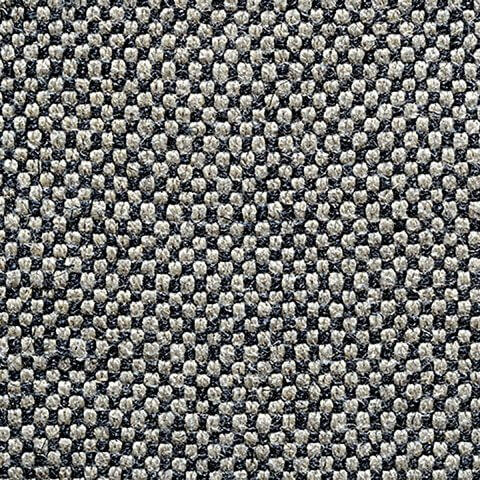Anichini Yutes Collection Barroco Solid Basket Weave Linen Fabric In Natural/Black