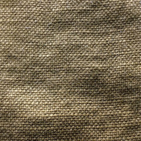 Anichini Yutes Collection Barroco Solid Basket Weave Linen Fabric In Wheat