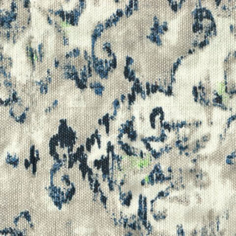 Anichini Yutes Collection Erba Multicolor Printed Linen Fabric