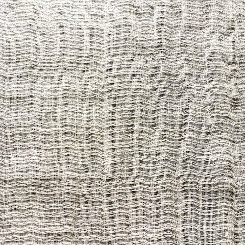 Anichini Yutes Collection Lahti Textured Stripe Sheer Linen Fabric