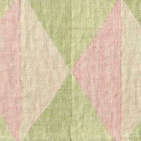 Anichini Yutes Collection Harlequin Diamond Jacquard Fabric In 02 Pink Green