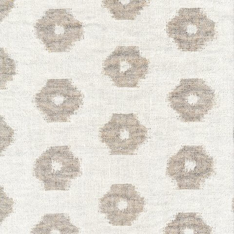 Anichini Yutes Collection Tokkat Small Circles Linen Matelassé Fabric