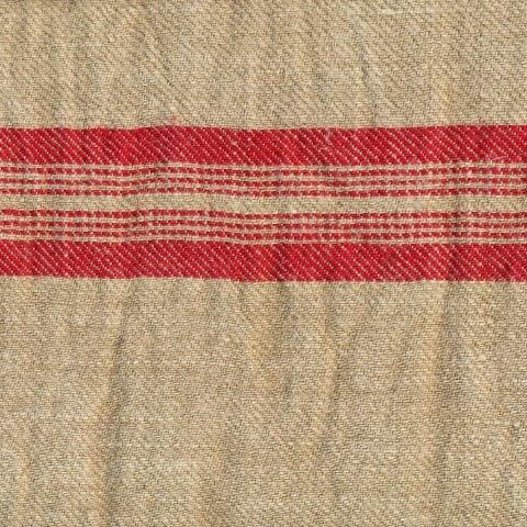 Anichini Yutes Collection Turquesa Striped Twill Weave Linen Fabric