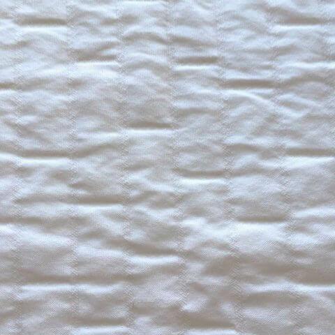 Anichini Yutes Collection Verona Brick Pattern Matelasse Fabric In 11 White