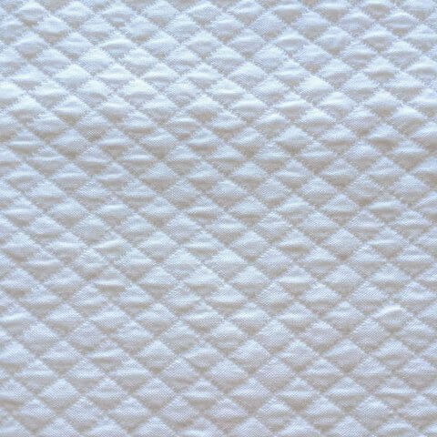 Anichini Yutes Collection Verona Small Diamond Pattern Matelasse Fabric In 31 White