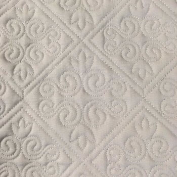 Anichini Hospitality Scrolling Fleur De Lis Pattern Quilted Bedding   Quilts, Runners, And Pillows For The Top Of Bed