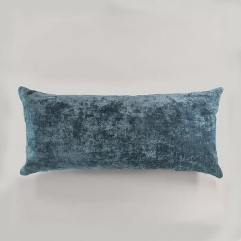 Anichini Horus Linen Velvet Pillows In Atlantic Blue