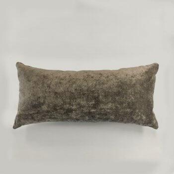 Anichini Horus Linen Velvet Pillows In Fawn Brown