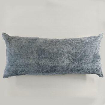 Anichini Horus Linen Velvet Pillows In Fog Blue Grey