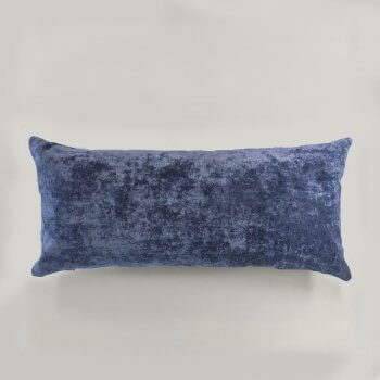 Anichini Horus Linen Velvet Pillows In Ink Blue