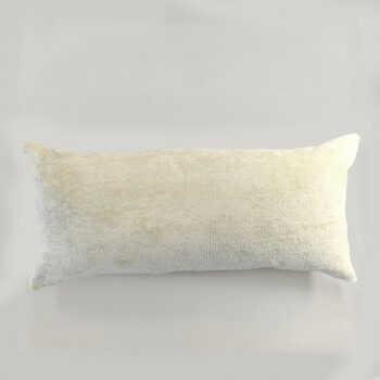 Anichini Horus Linen Velvet Pillows In Ivory