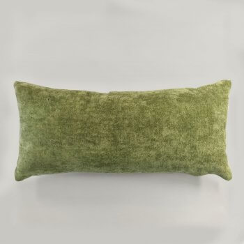 Anichini Horus Linen Velvet Pillows In Jasper Green
