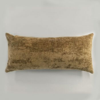 Anichini Horus Linen Velvet Pillows In Medium Truffle