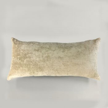 Anichini Horus Linen Velvet Pillows In Oyster Beige