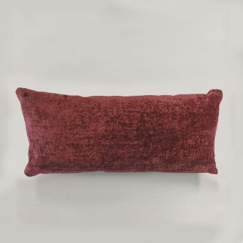 Anichini Horus Linen Velvet Pillows In Wine Red