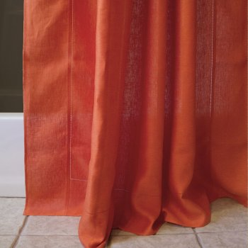 Anichini Linen Tweed Shower Curtains
