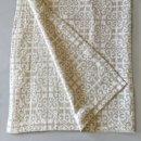 Anichini Tokkat Tile Design Linen Throws & Bed Runners