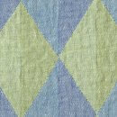 Anichini Yutes Collection Harlequin Diamond Jacquard Fabric In 01 Blue Green
