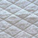 Anichini Yutes Collection Verona Large Diamond Pattern Matelasse Fabric In 21 White