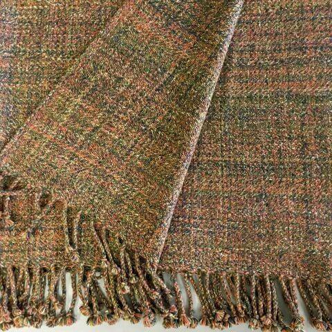 Anichini Coco Multicolor Heather Handwoven Cashmere Throws