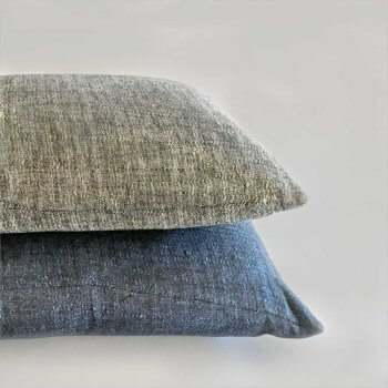 Anichini Calvin Textured Linen Denim Decorative Pillows