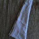 Anichini Calvin Linen Denim Pick Stitch Blanket