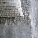 Anichini Linen Plissé Coverlets And Shams In Platinum