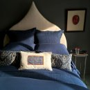 Anichini Michelle Cashmere Sheets In Deep Marine Blue