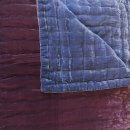 Anichini Handmade Pho Velvet Quilt In Midnight Blue / Plum