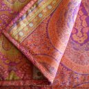 Anichini Taj Luxurious Paisley Lightweight Italian Quilts In Coral Fuchsia