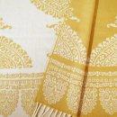 Anichini Taormina Merino Wool Scarf In Creamy Yellow / Ivory